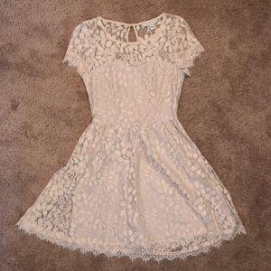 Cream Lauren Conrad dress